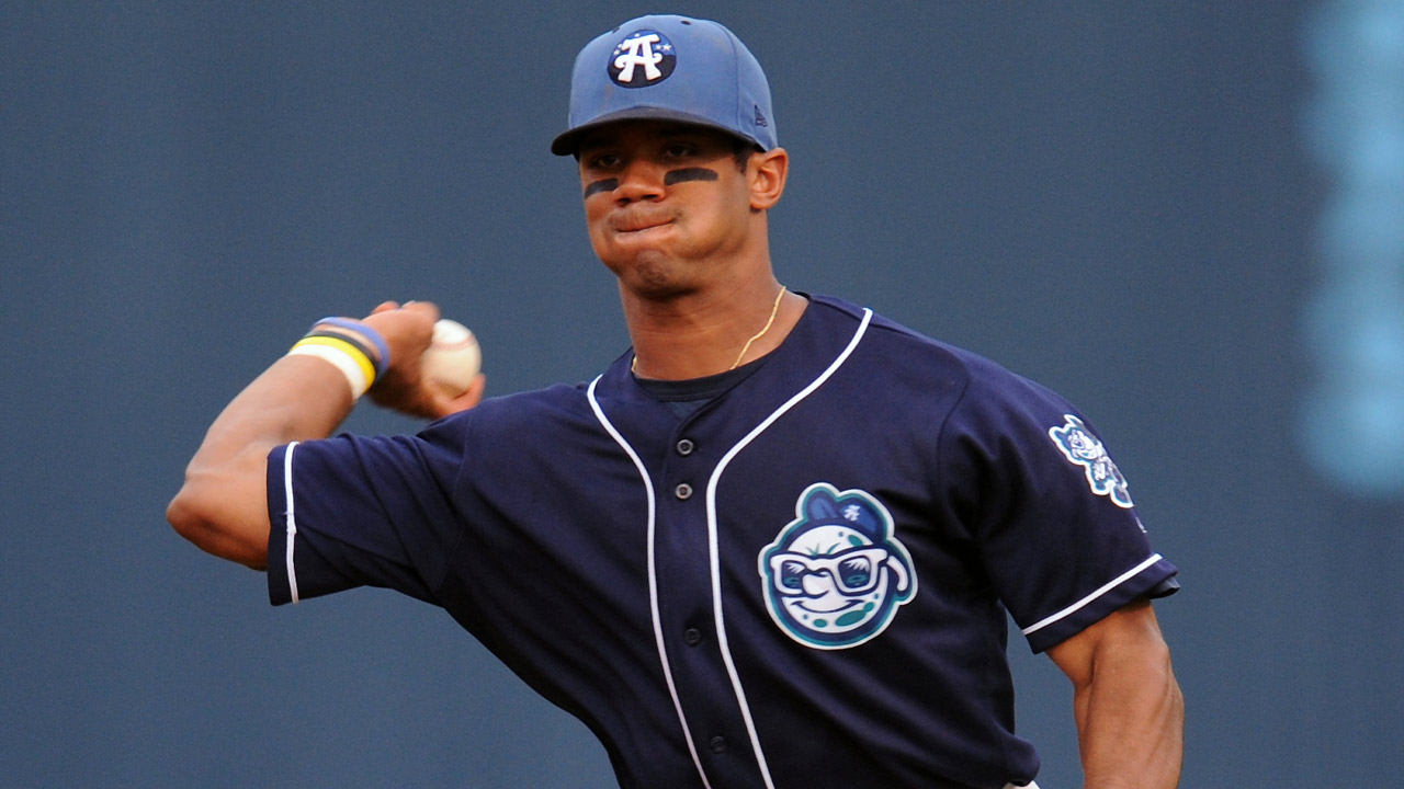In Minors, Russell Wilson tackled tornadoes