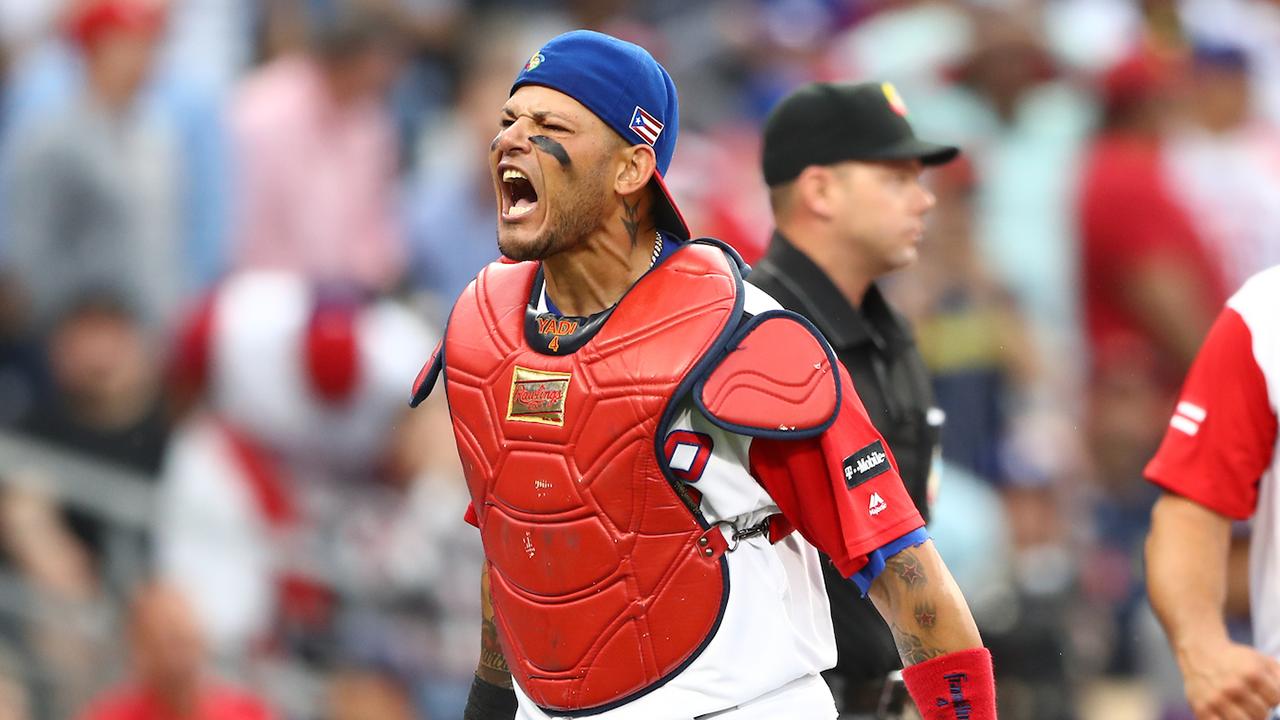 Yadier Molina's bat, defense lead way for PR | MLB.com