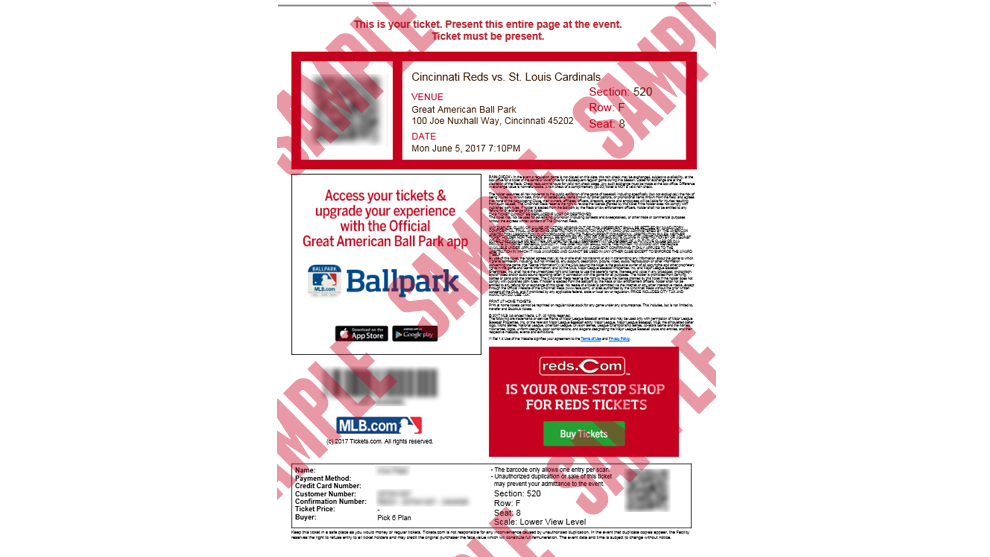 Experience Certificate Format Ticketing. Click here for a sample of Reds ticket printed at home  Print Tickets Home MLB com