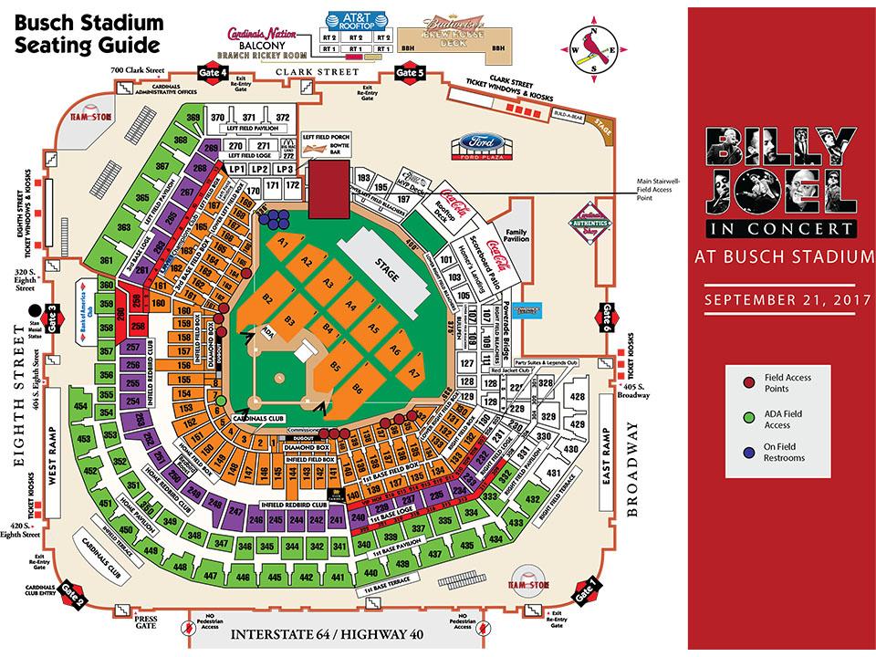 Busch Stadium Detailed Seat Map Wallseatco