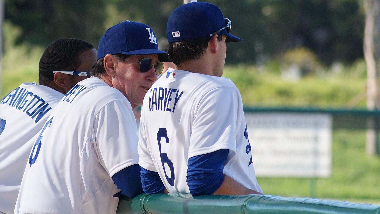 Garvey mentors son at Dodgertown fantasy camp