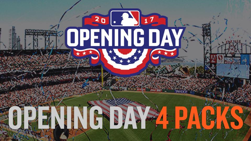 Secure Opening Day Tickets with an Opening Day 4 Pack