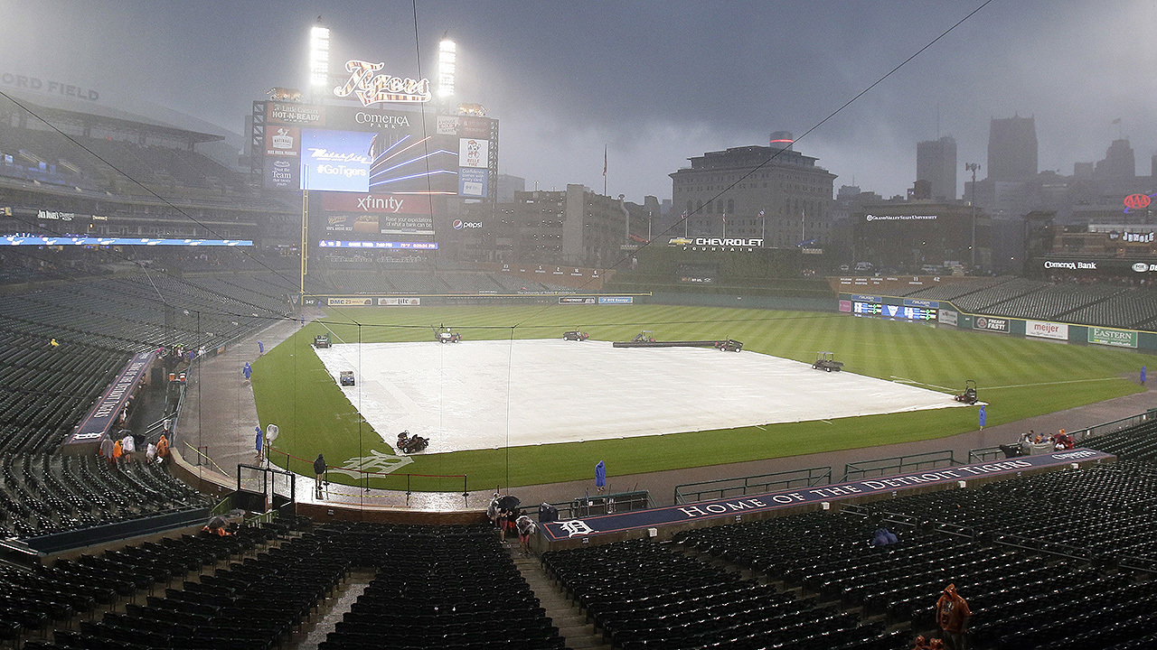 Rain delaying start of Red Sox-Tigers game
