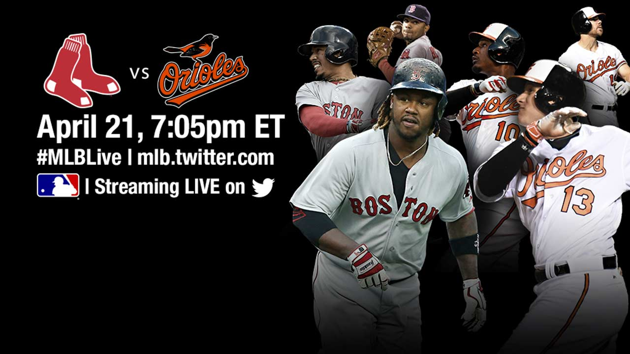 Watch Red Sox-Orioles on Twitter tonight