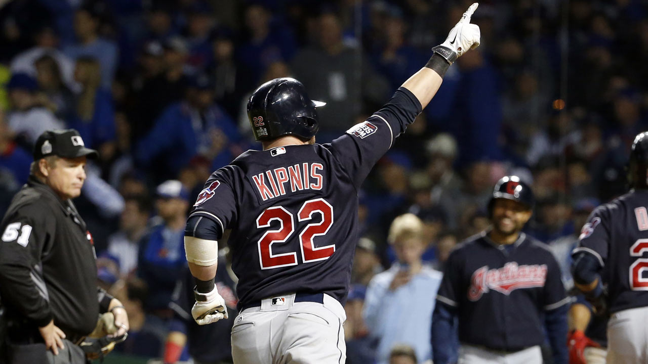 indians defeat cubs one win from world title mlb com
