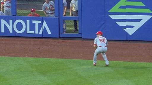 Stephen Piscotty Throws Out Man At Second