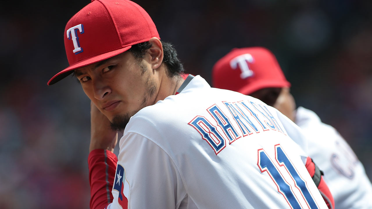 Darvish throws for first time since TJ surgery