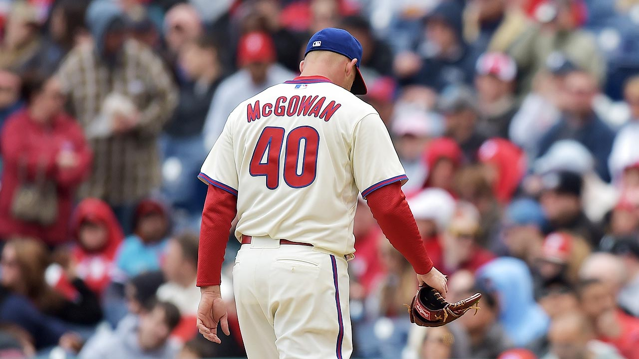McGowan tires in rare start; 'pen can't pick him up
