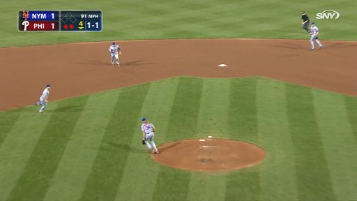 David Wright barehanded play