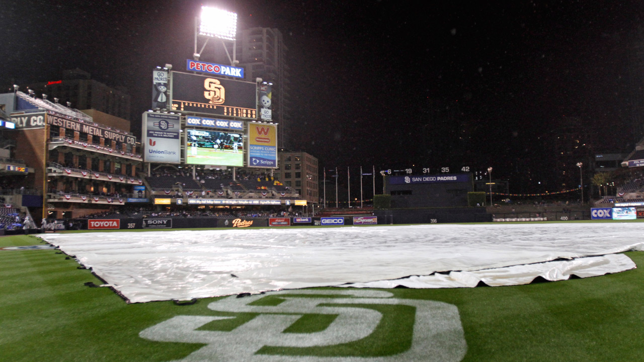 Padres, D-backs start delayed by rain