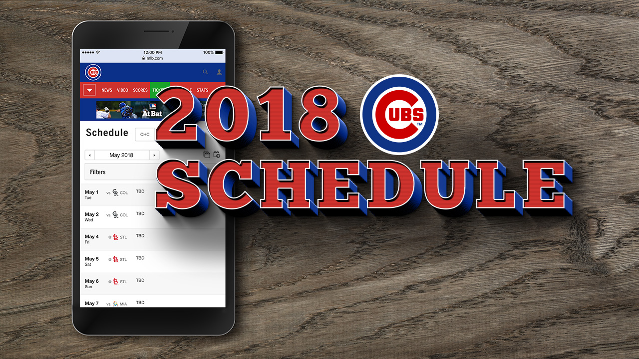 Cubs announce '18 schedule, open in Miami