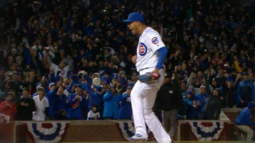 Hector Rondon pumped after save
