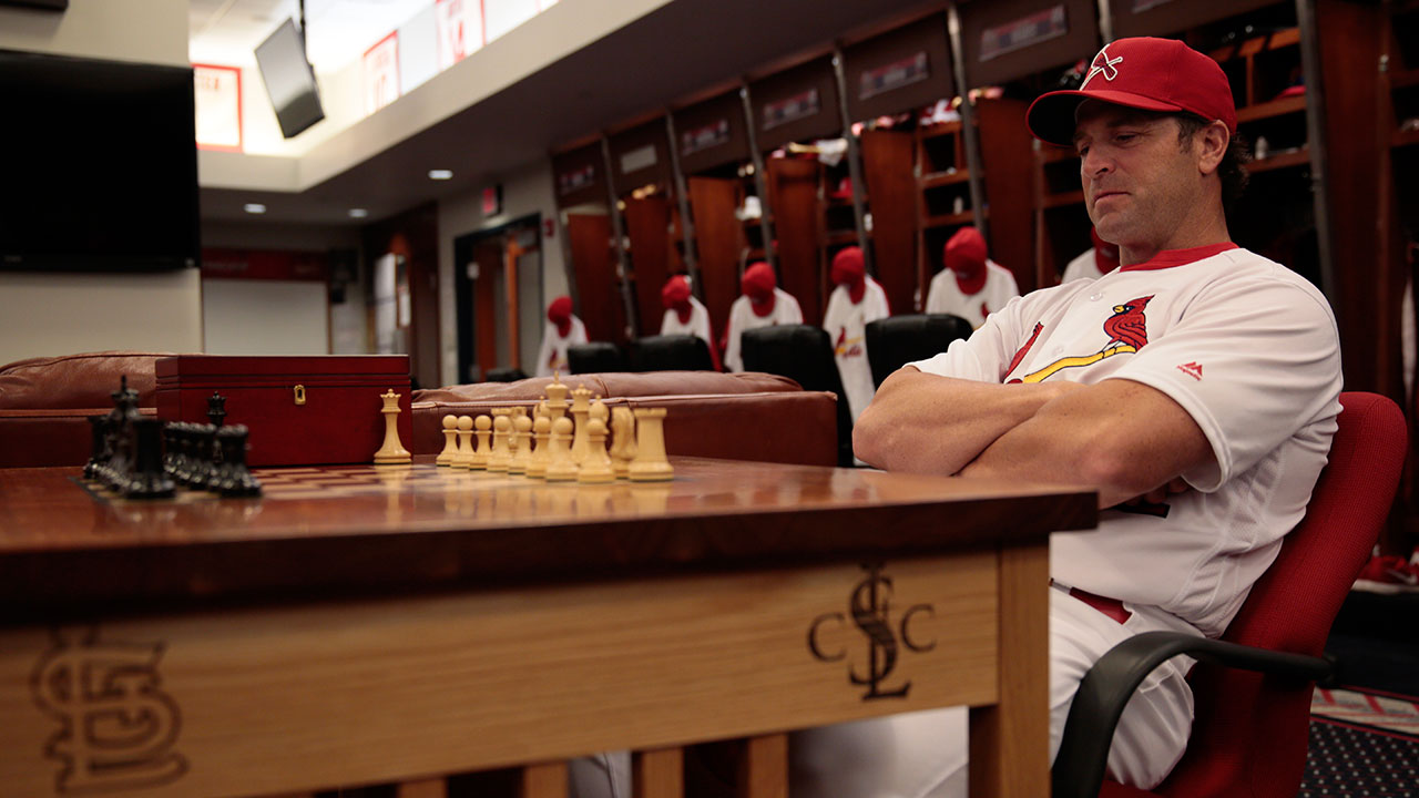 Cardinals bonding over chess in clubhouse