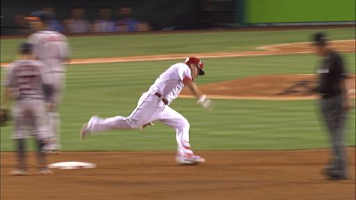Mike Trout trips, fools with Altuve