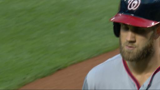 Bryce Harper Shushes the crowd