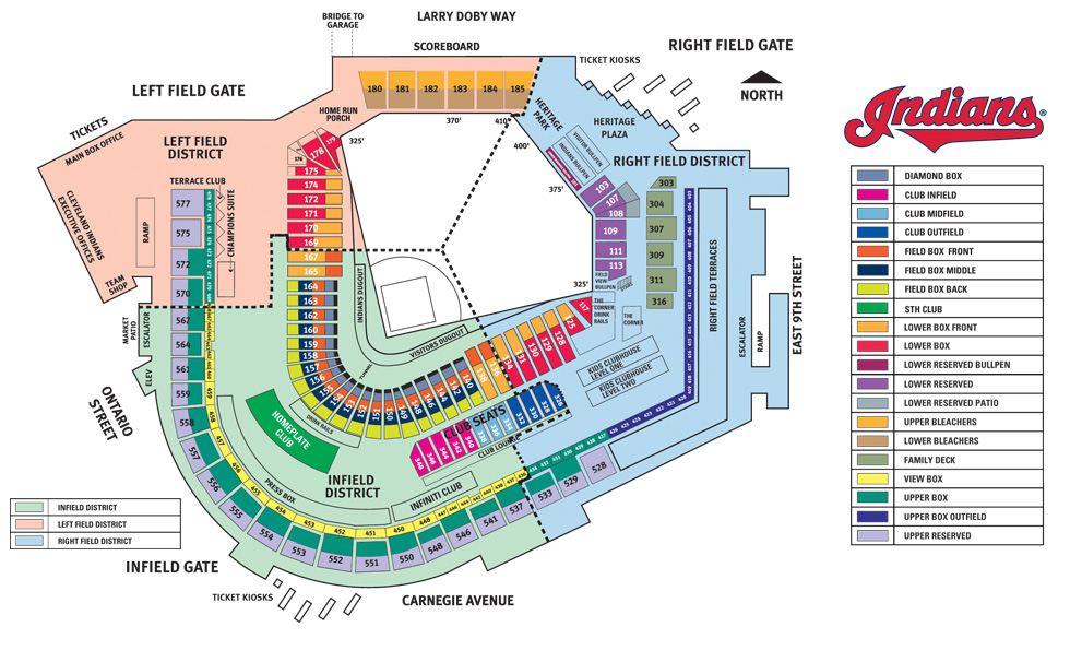Progressive Field Seating Map