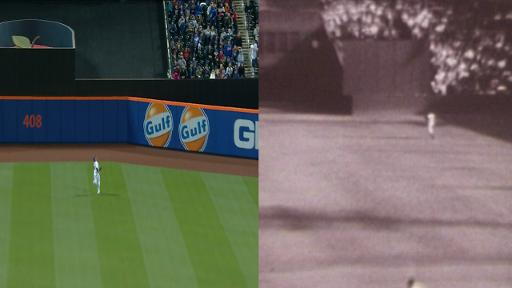Juan Lagares, Willie Mays side-by-side