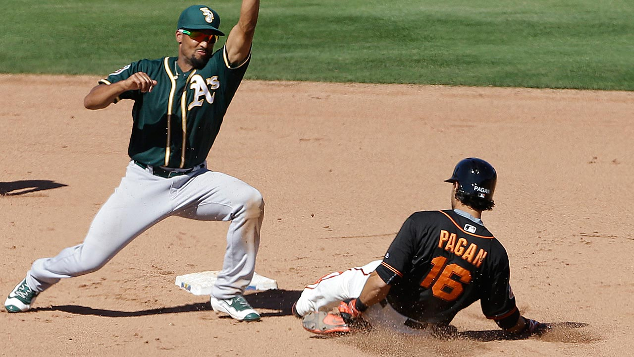 Pagan flashes renewed speed against A's