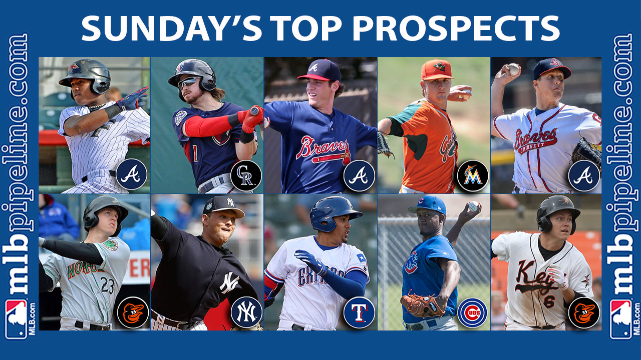 Braves trio lead Sunday's top prospect performers