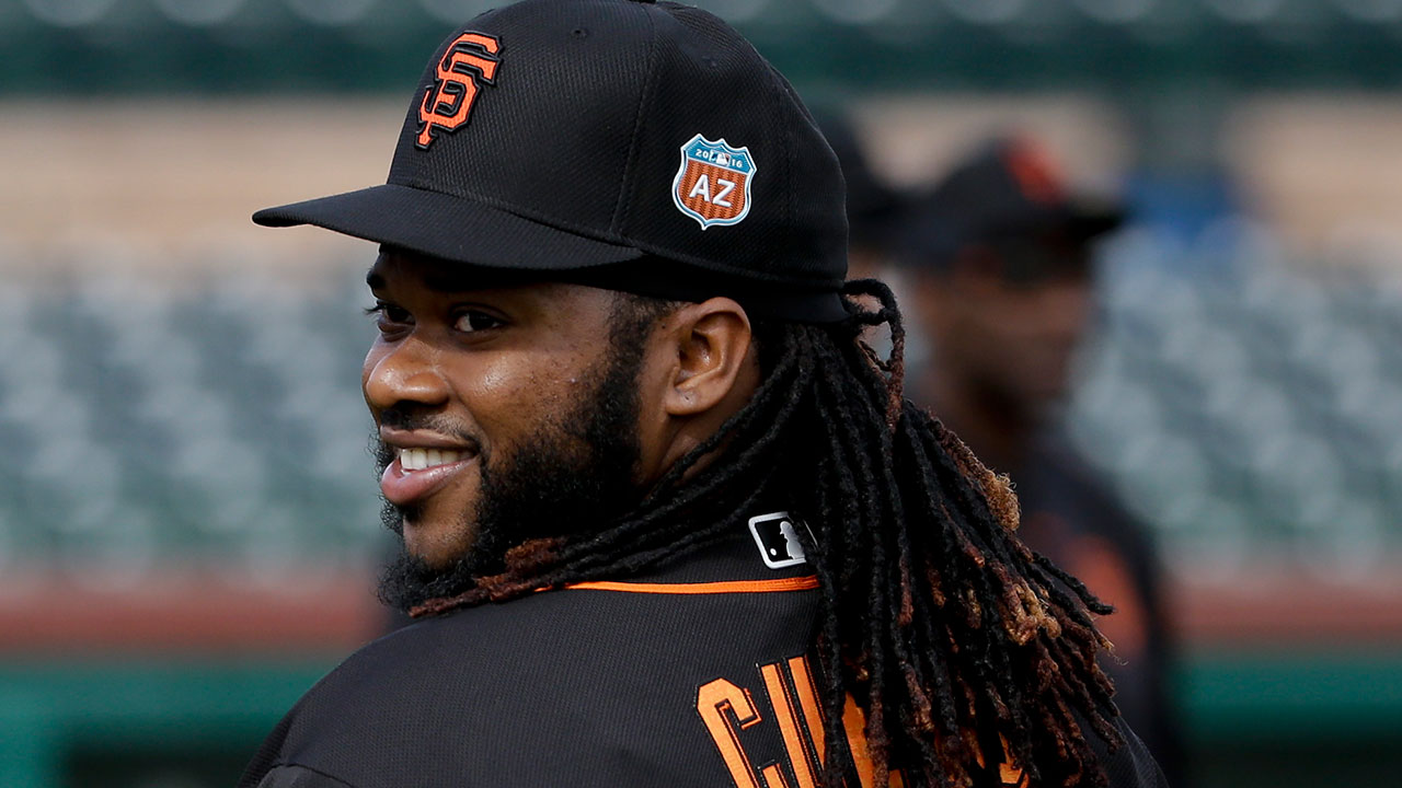 Orange suits him: Cueto fitting in with Giants