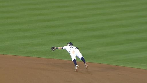 Ian Kinsler Diving Stop