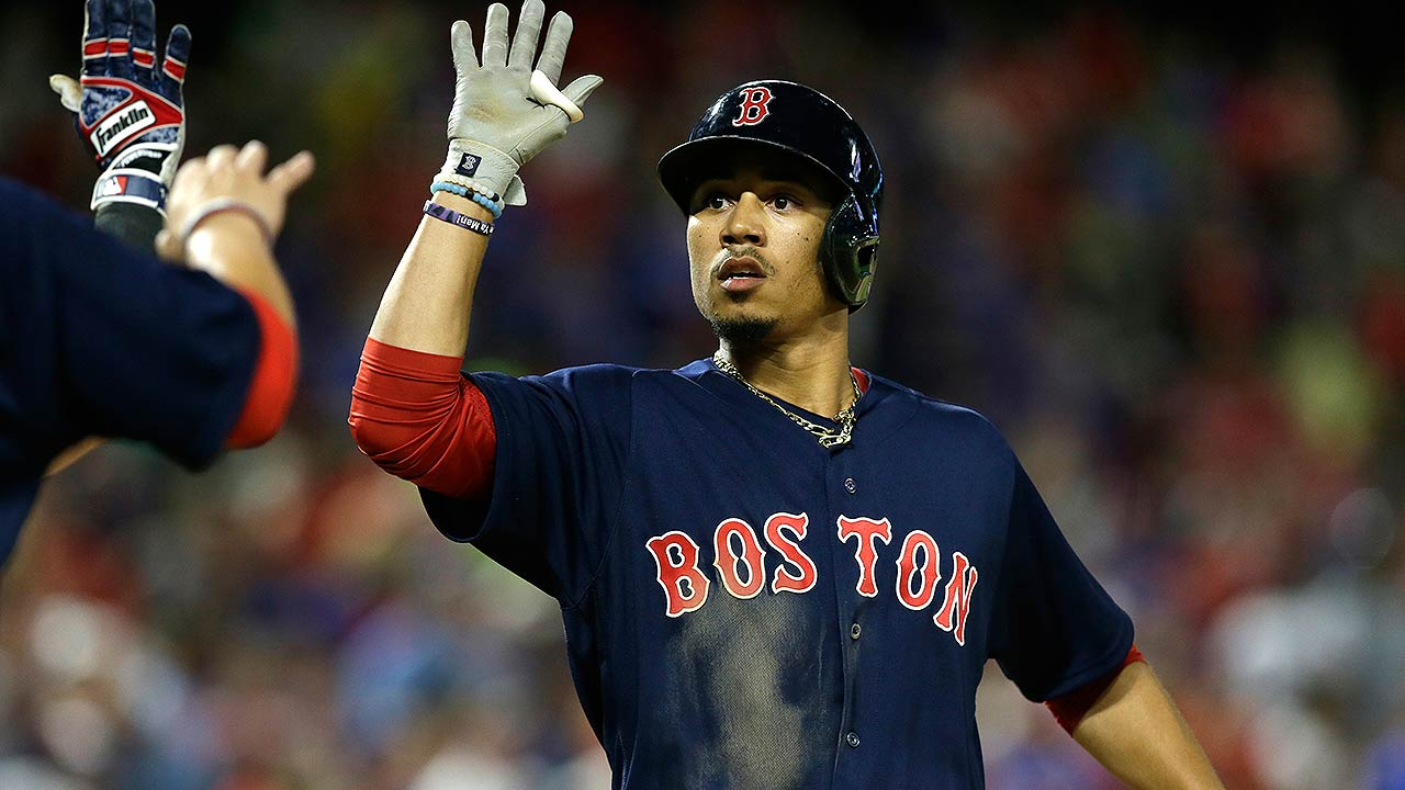 red sox mookie betts hits game tyine home run. Black Bedroom Furniture Sets. Home Design Ideas