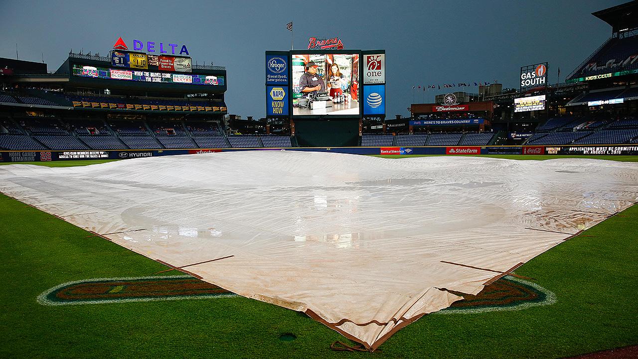Phillies-Braves series opener delayed by rain