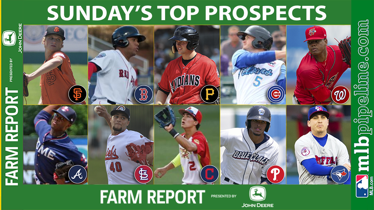 Bickford, Moncada among top prospect performers Sunday