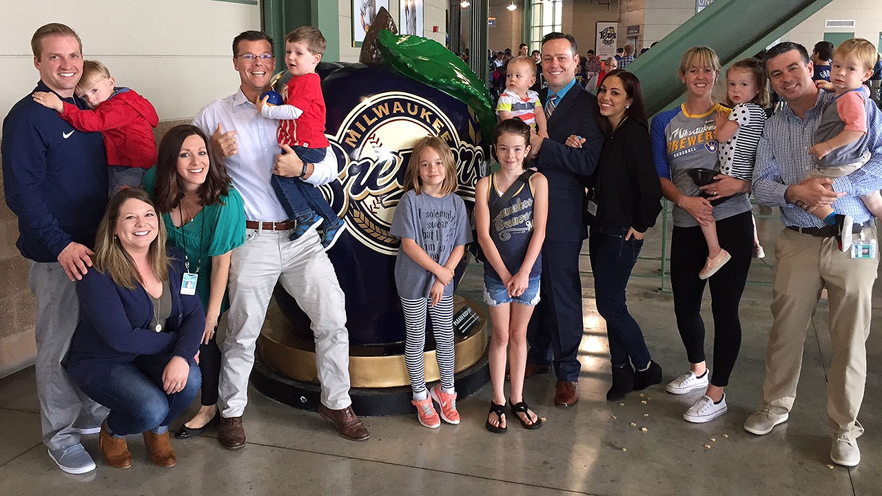 Milwaukee Brewers Bedroom In A Box Major League Baseball: Brewers' Press Box Fathers Start Tradition