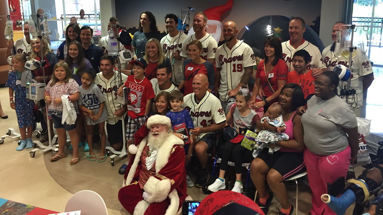 Braves bring Christmas in July to local kids