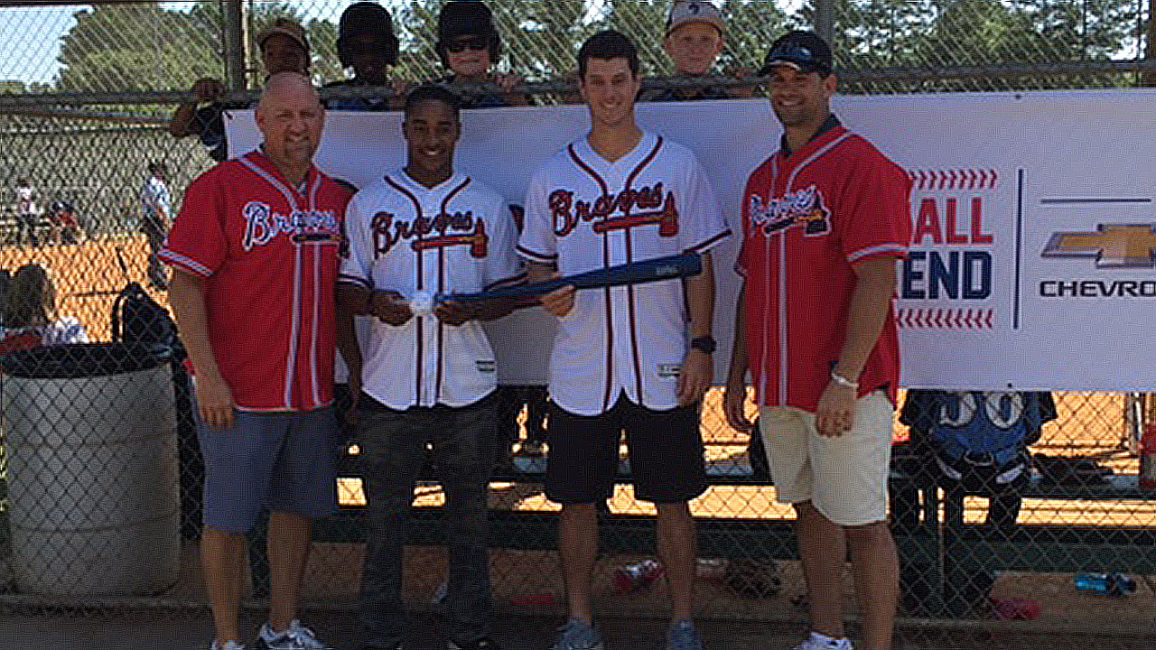 Current, former Braves surprise local youth