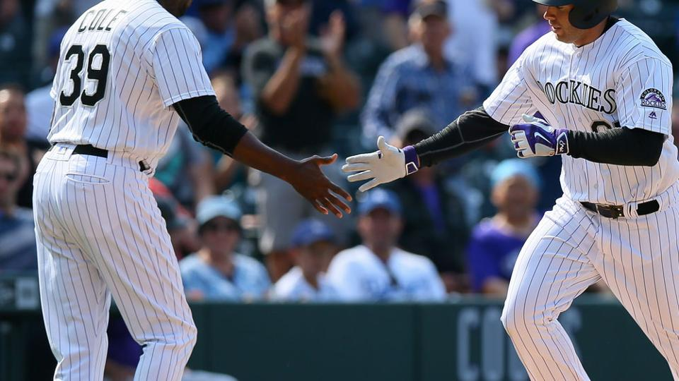 Rockies coach fine after being hit in head during BP