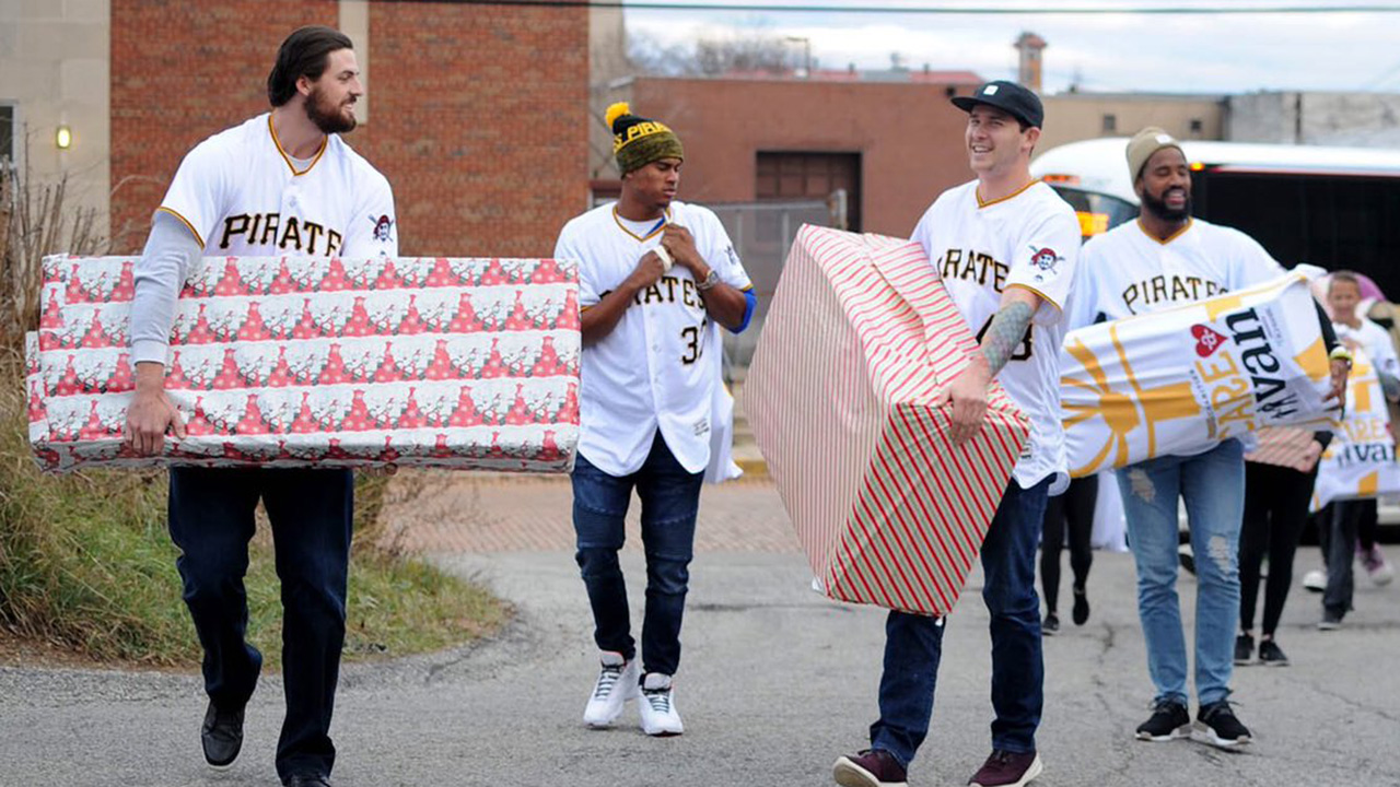 Pirates give back with on club's CARE-a-van