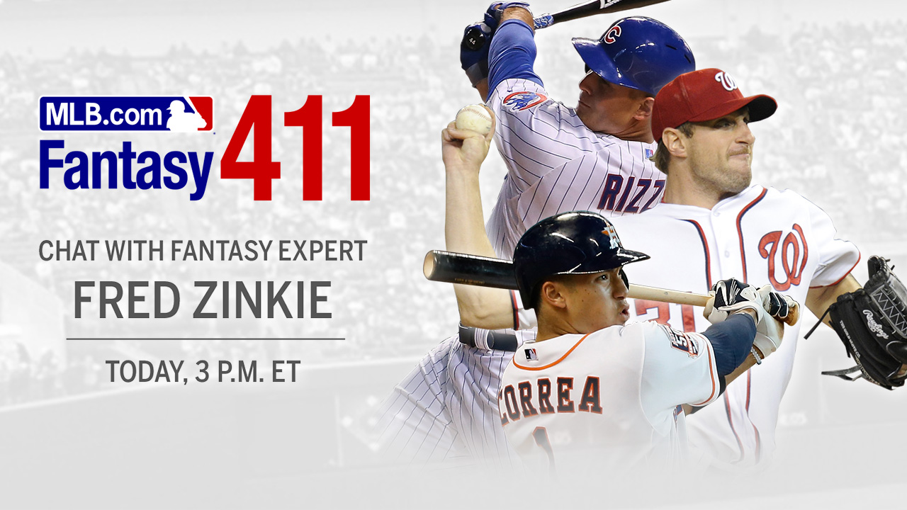 Tweet fantasy baseball questions to MLB.com guru
