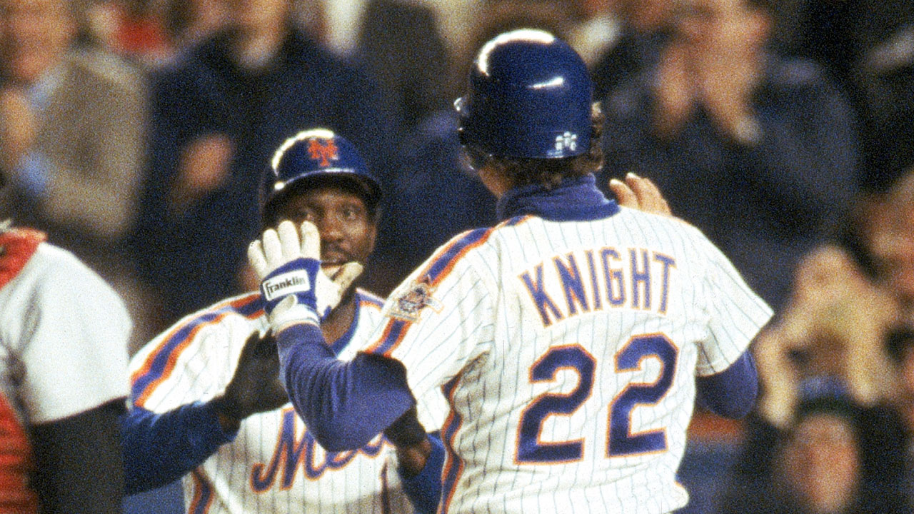 5b5128f34 The  86 Mets wore non-pinstriped nameplates over their pinstriped jerseys —  a terrible look ...