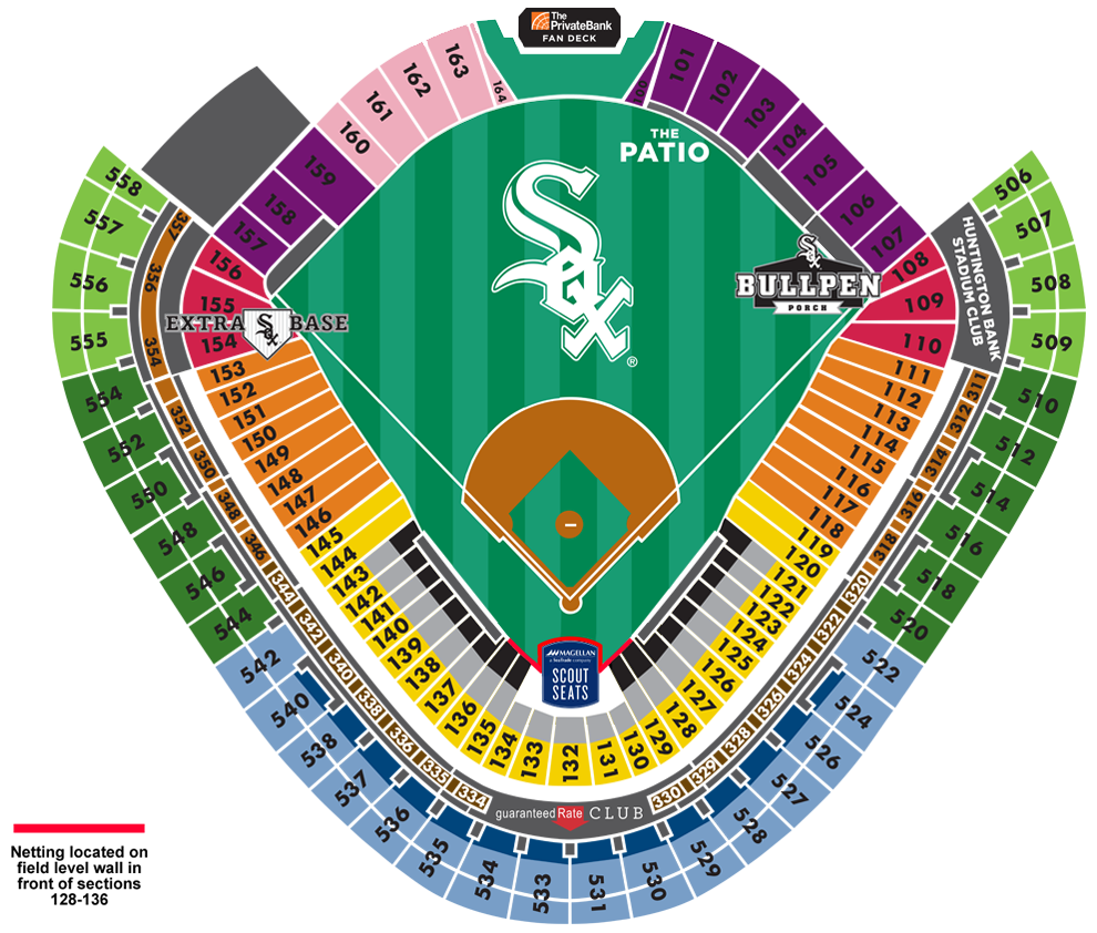 Guaranteed Rate Field Seating Map MLBcom - Mlb us map