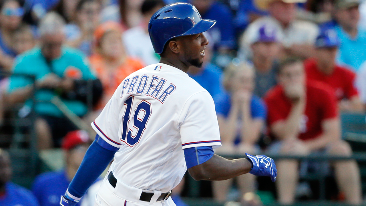 Profar to play second base in Odor's absence