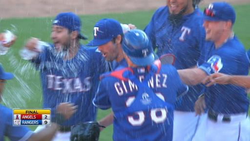 Rangers celebrate AL West title on field
