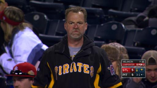 Angry Pirates fan stares