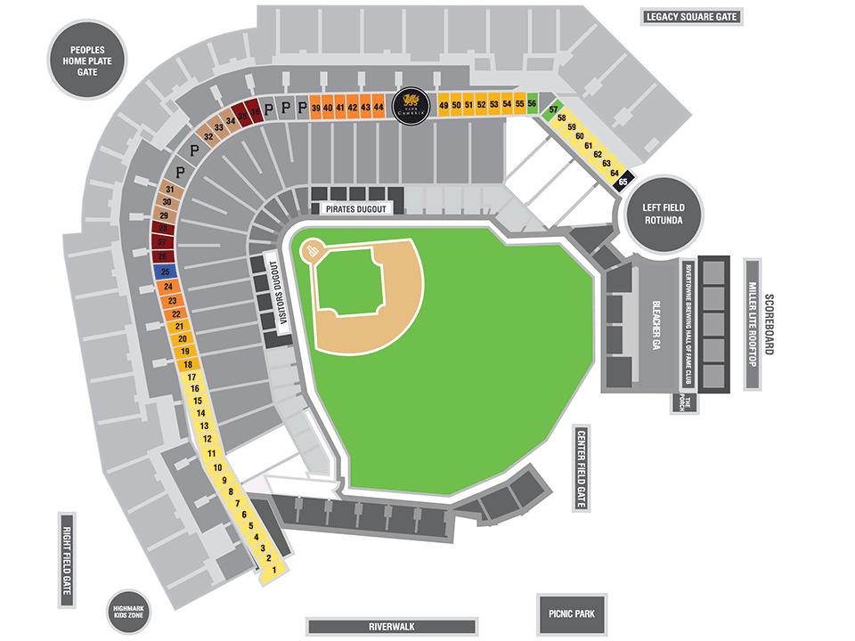 Luxury Suites MLBcom - Pnc park map seating