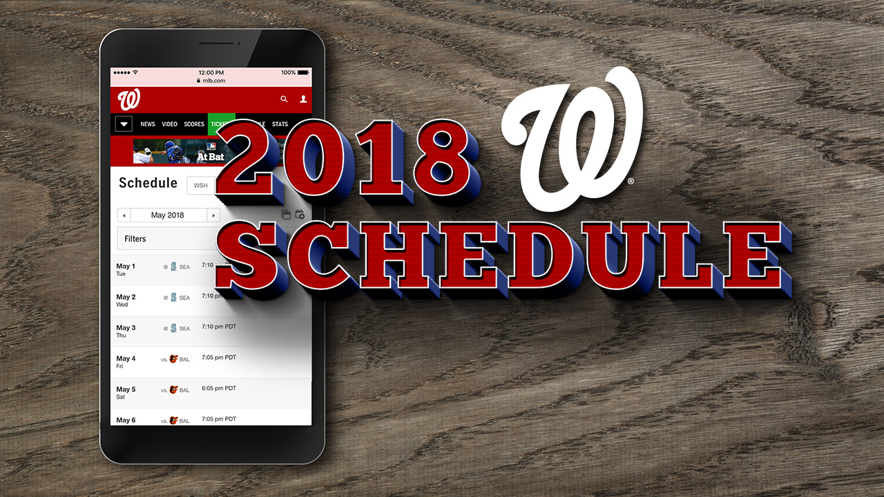 Nats to open '18 season on the road in March