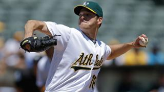 Blister appears to force A's Hill's early exit