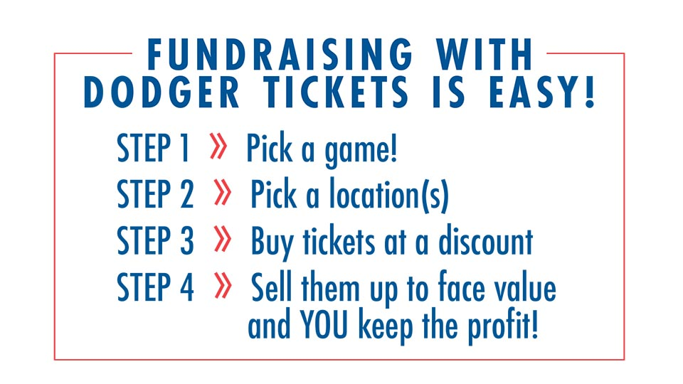 Fundraising with the Dodgers – How to Make Tickets for a Fundraiser