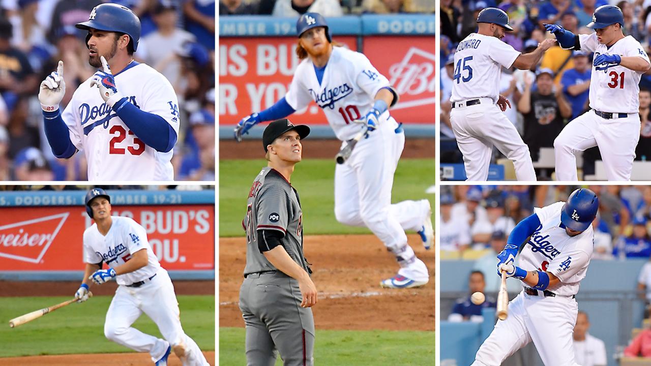 Dodgers hit 5 home runs off Zack Greinke   MLB.com