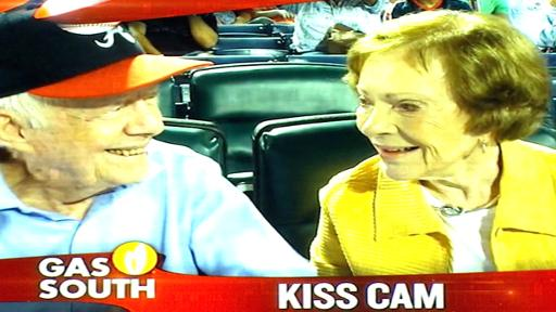 GIF ATL Jimmy Carter on Kiss Cam 91715