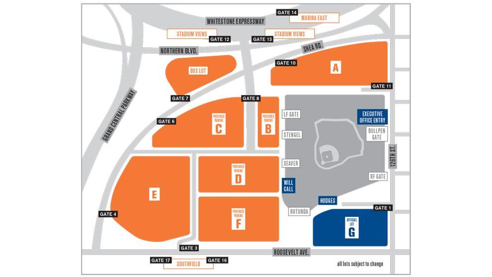 Prepaid Parking Passes MLBcom - Us open parking lot map