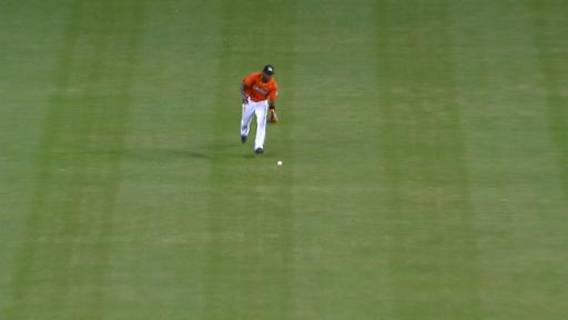 Marcell Ozuna Outfield Assist