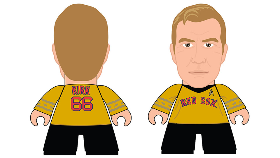 Limited Edition Captain Kirk Red Sox figurine