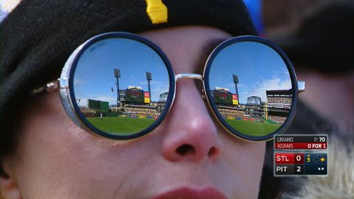 Pirates fan sunglasses reflection