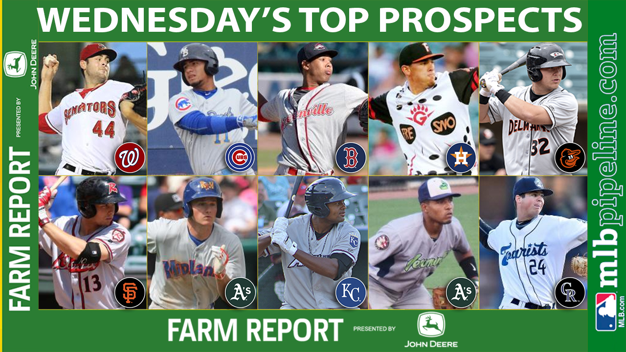 Homers ruled the day among top prospects Wednesday